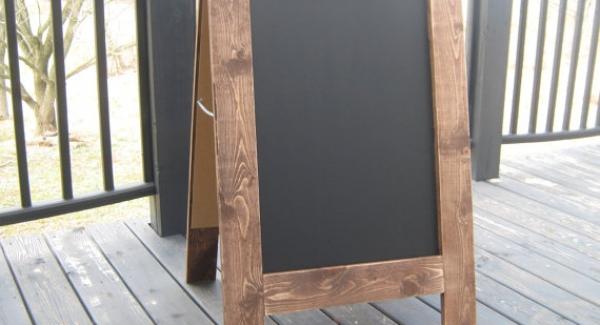 Two sided Chalkboard Easel